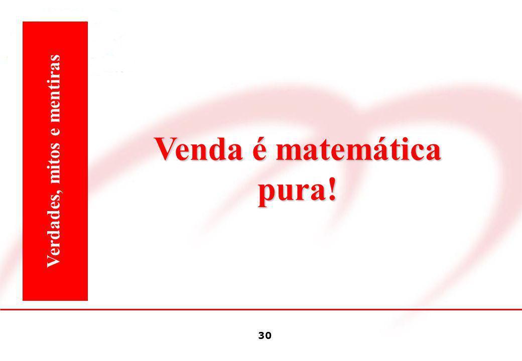 Venda é matemática pura! Verdades, mitos e mentiras