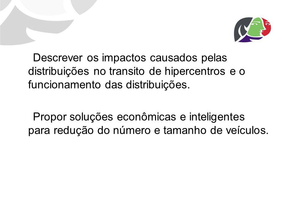 Descrever os impactos causados pelas distribuições no transito de hipercentros e o funcionamento das distribuições.