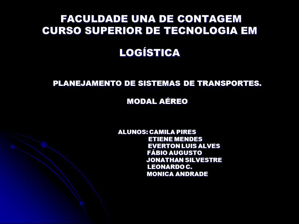 FACULDADE UNA DE CONTAGEM CURSO SUPERIOR DE TECNOLOGIA EM LOGÍSTICA