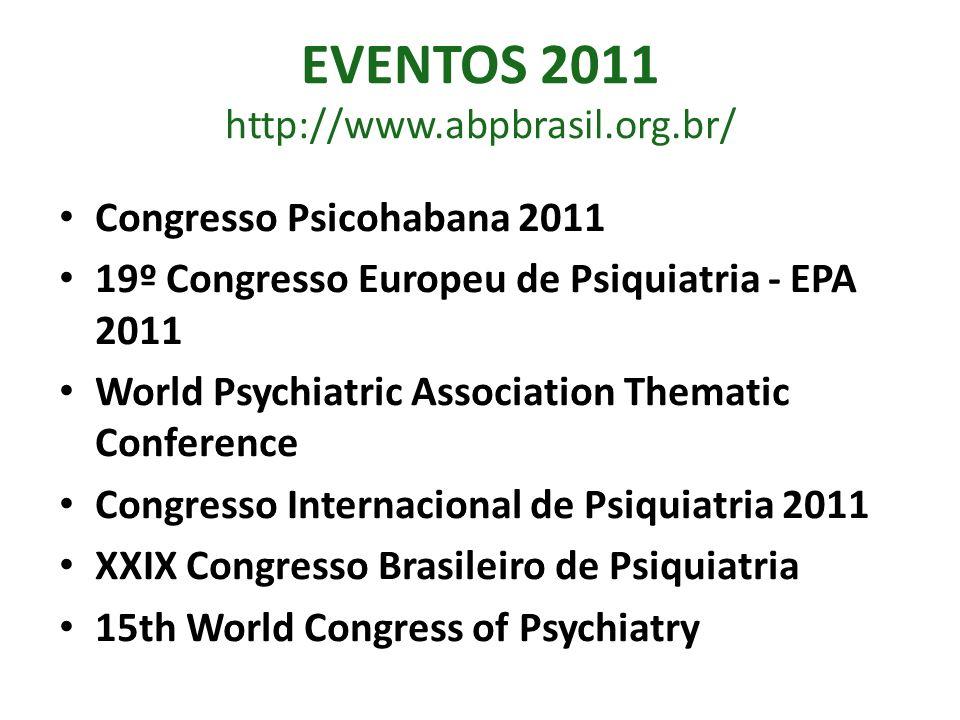 EVENTOS 2011 http://www.abpbrasil.org.br/