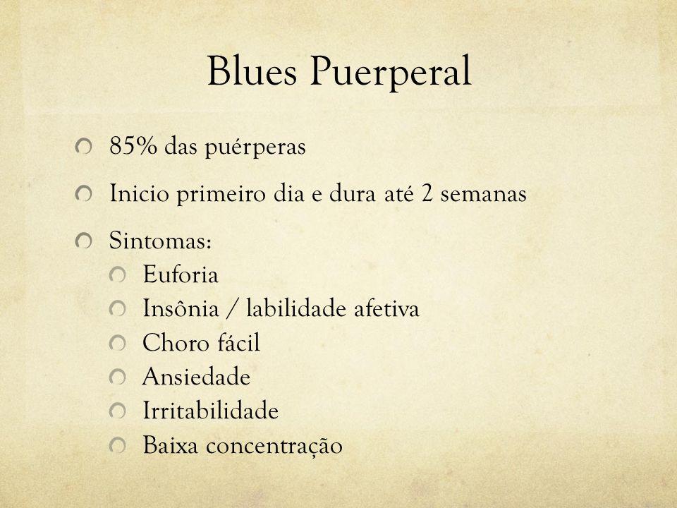 Blues Puerperal 85% das puérperas