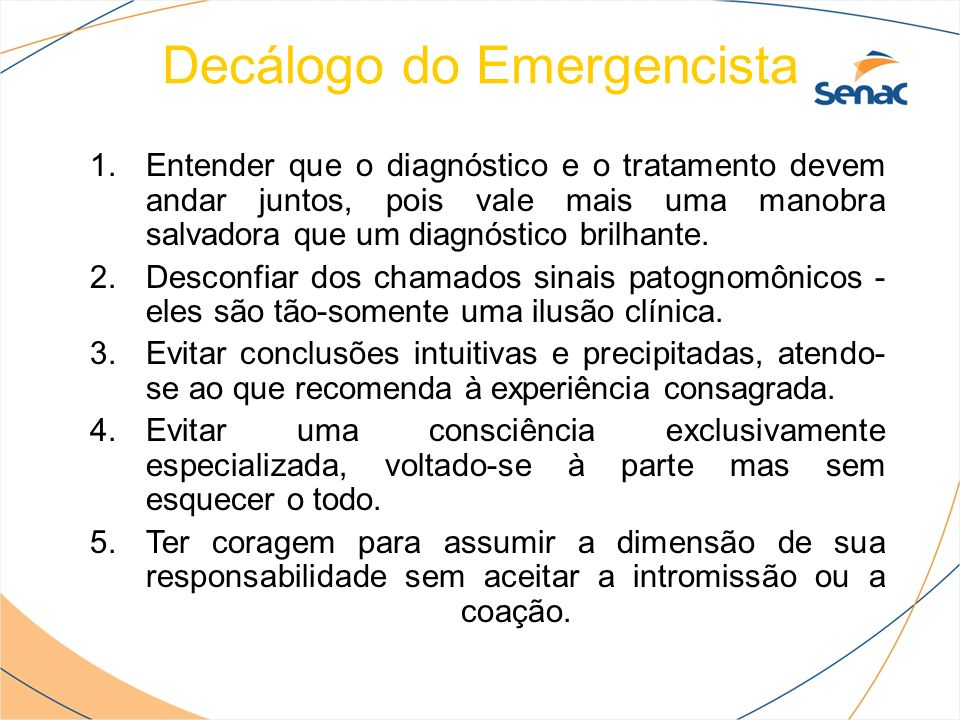 Decálogo do Emergencista