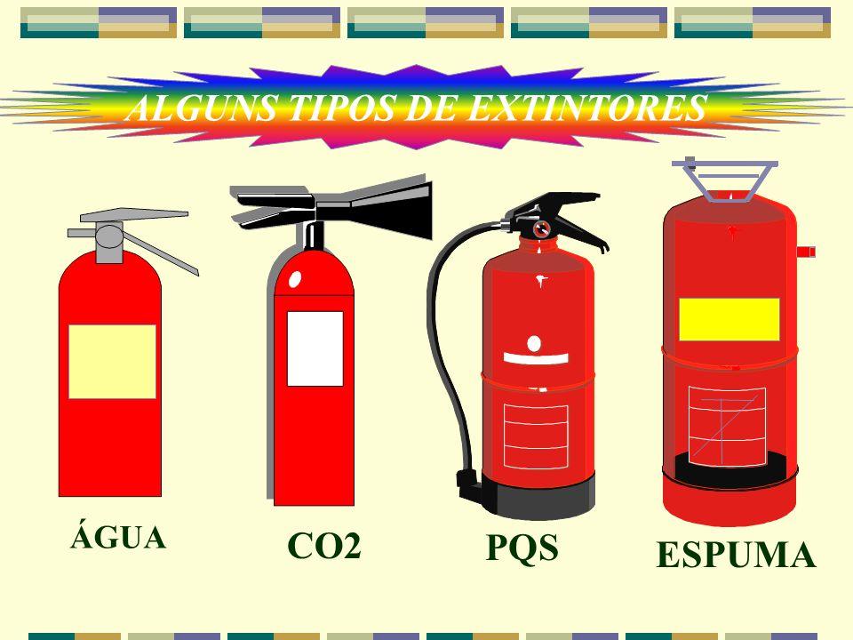 ALGUNS TIPOS DE EXTINTORES
