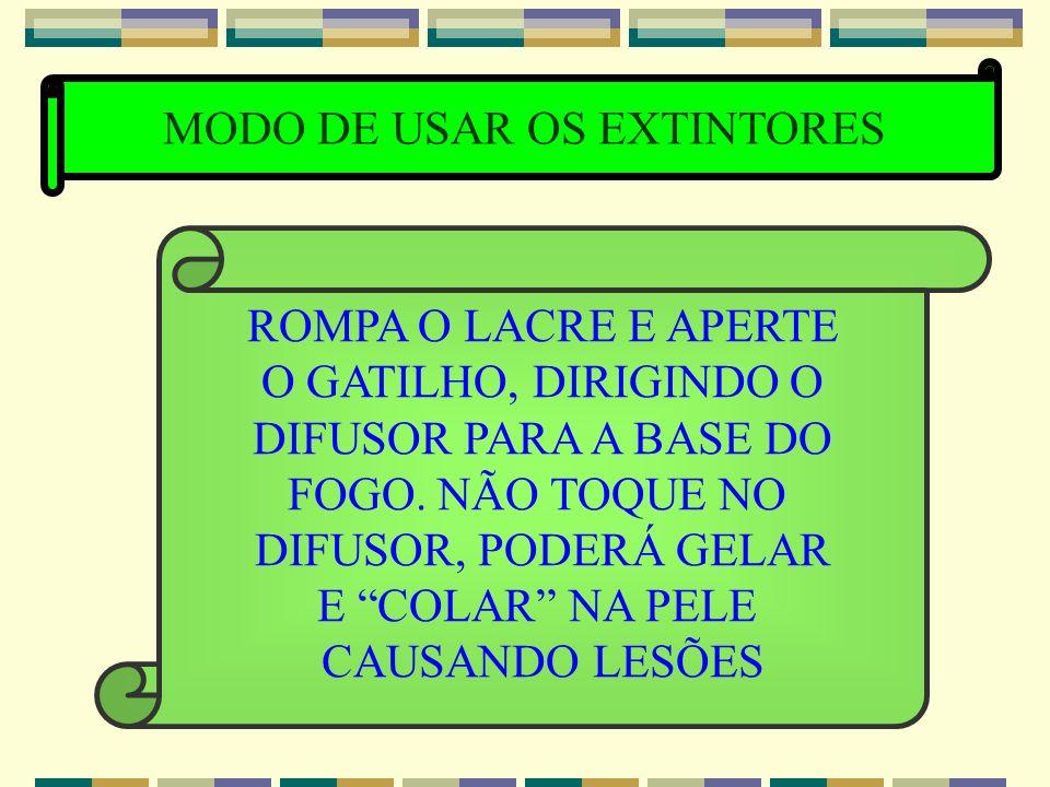 MODO DE USAR OS EXTINTORES