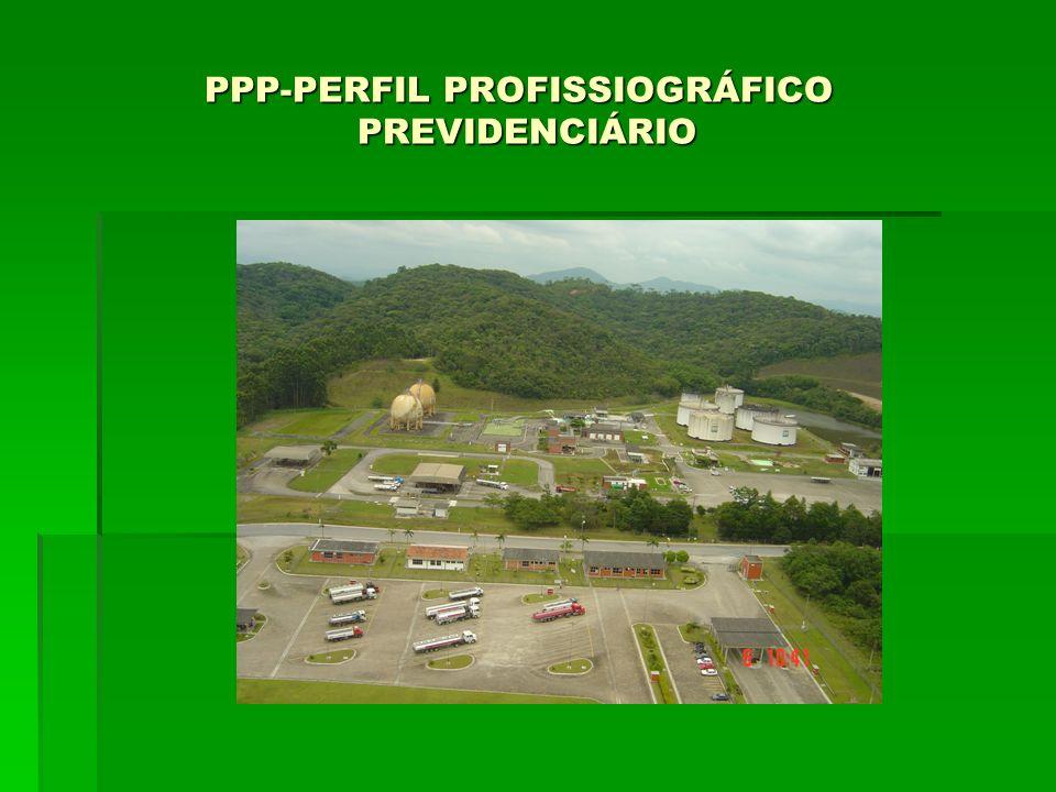 PPP-PERFIL PROFISSIOGRÁFICO PREVIDENCIÁRIO