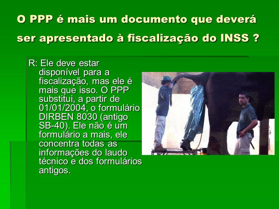 O PPP é mais um documento que deverá ser apresentado à fiscalização do INSS
