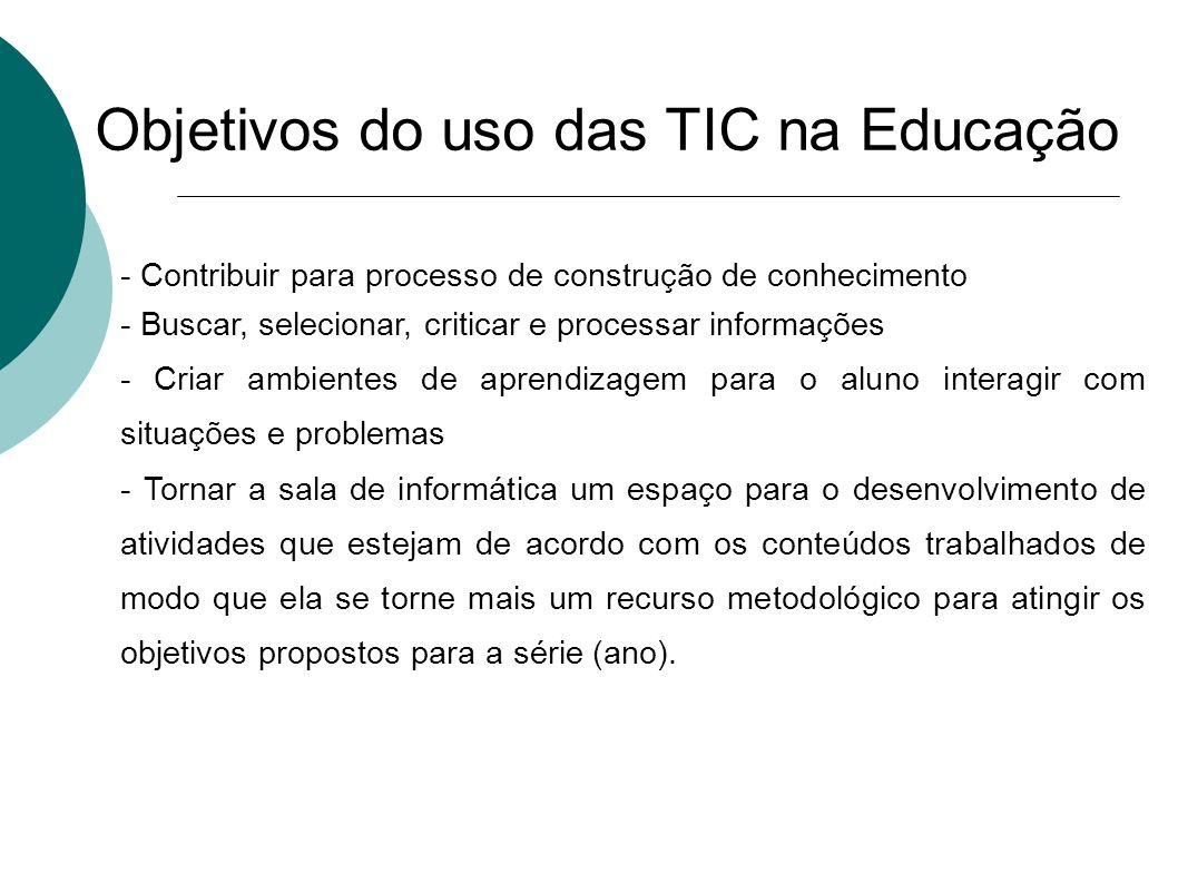 Objetivos do uso das TIC na Educação