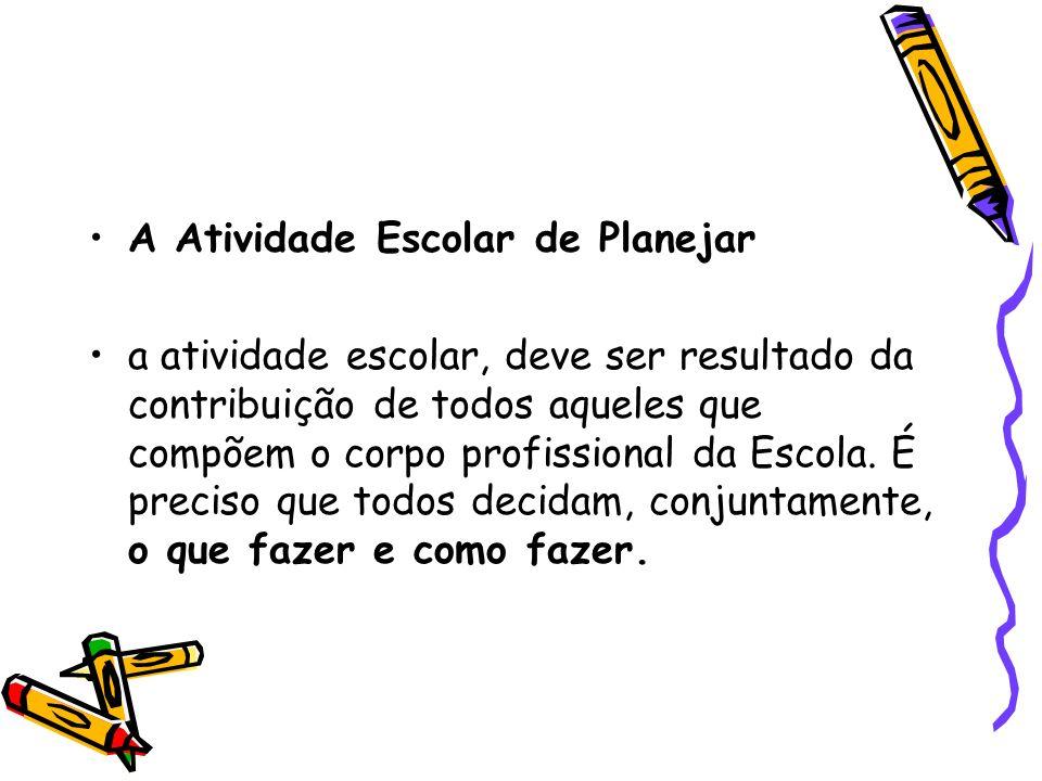 A Atividade Escolar de Planejar