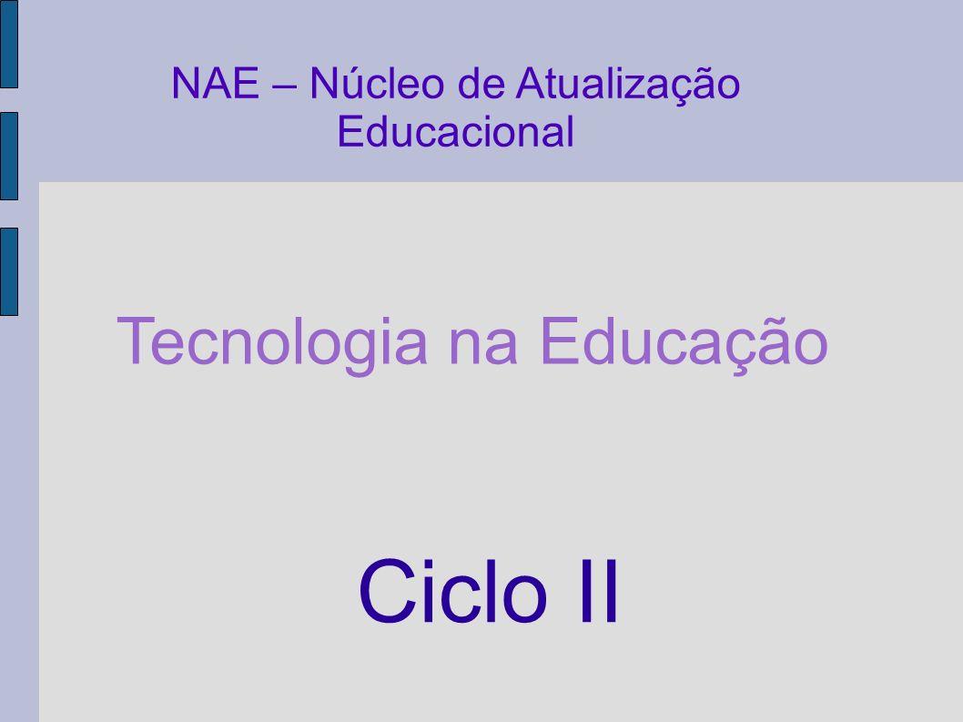 Ciclo II Tecnologia na Educação