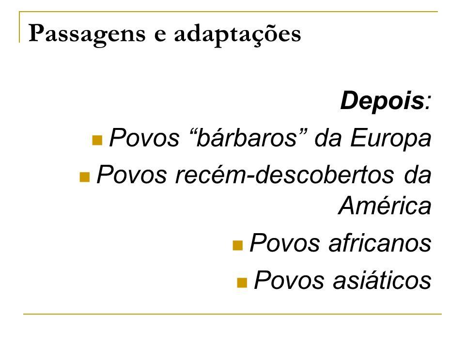 Passagens e adaptações