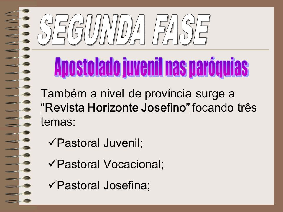 Apostolado juvenil nas paróquias