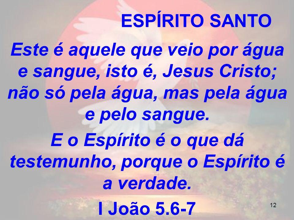 E o Espírito é o que dá testemunho, porque o Espírito é a verdade.