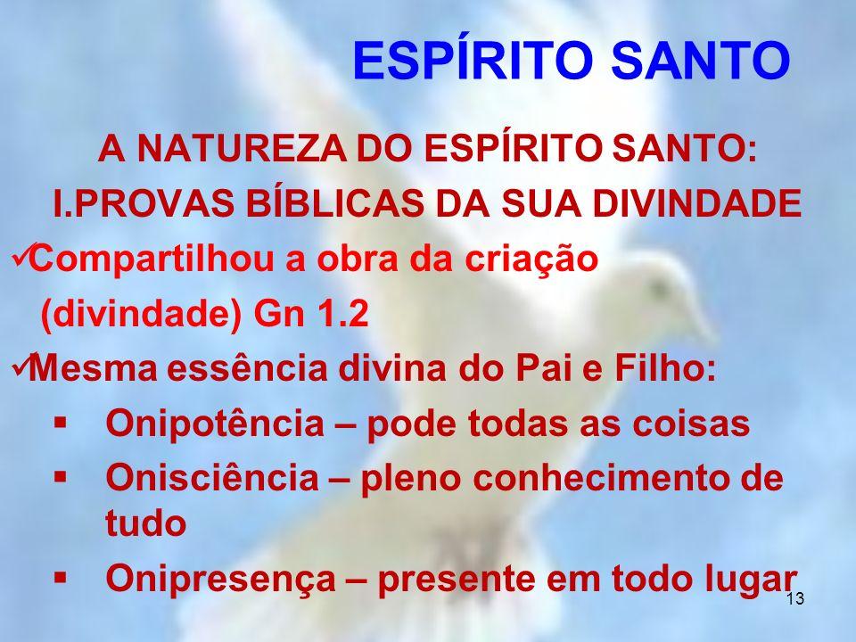 A NATUREZA DO ESPÍRITO SANTO: PROVAS BÍBLICAS DA SUA DIVINDADE