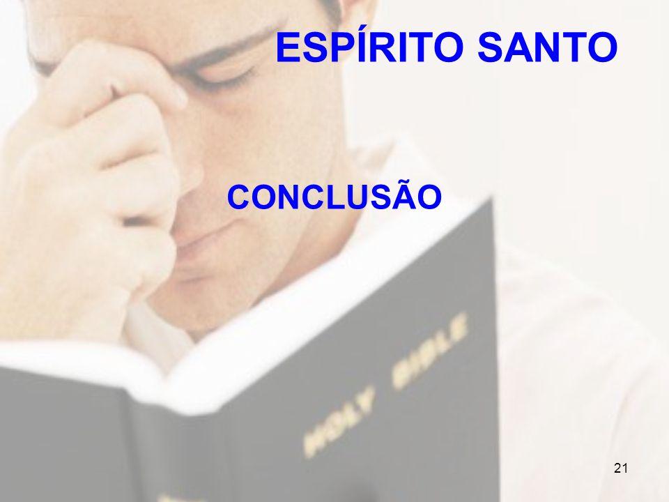 ESPÍRITO SANTO CONCLUSÃO