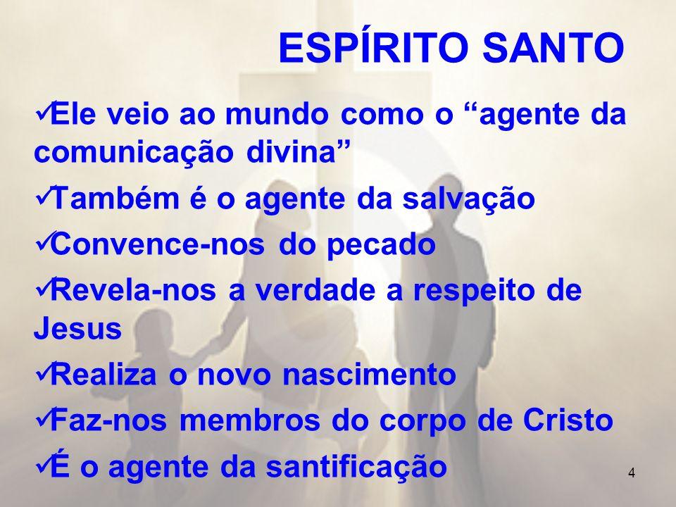 ESPÍRITO SANTO Ele veio ao mundo como o agente da comunicação divina