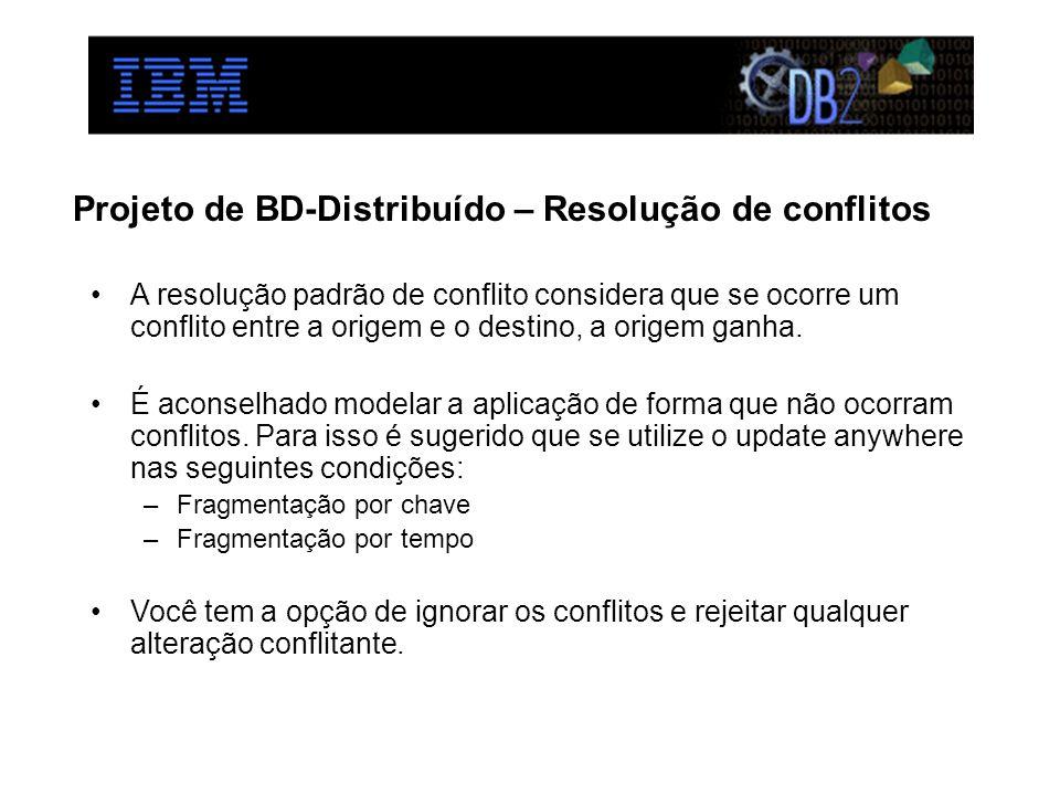 Projeto de BD-Distribuído – Resolução de conflitos