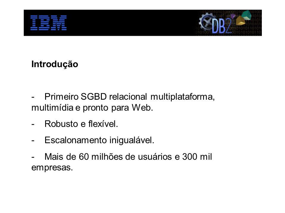 Introdução Primeiro SGBD relacional multiplataforma, multimídia e pronto para Web. Robusto e flexível.