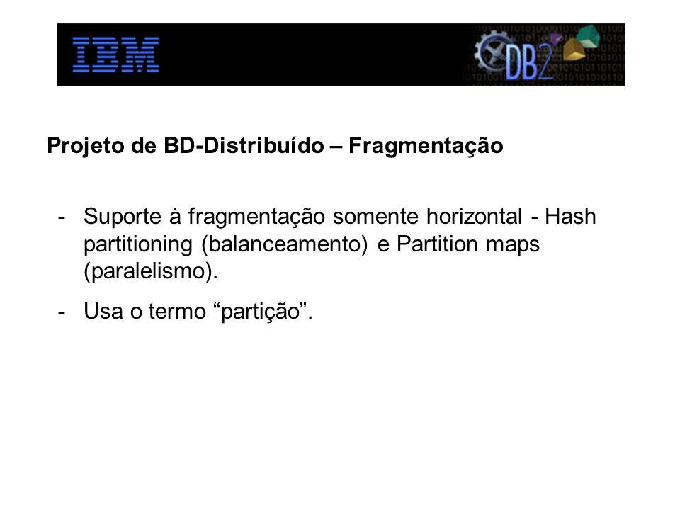 Projeto de BD-Distribuído – Fragmentação