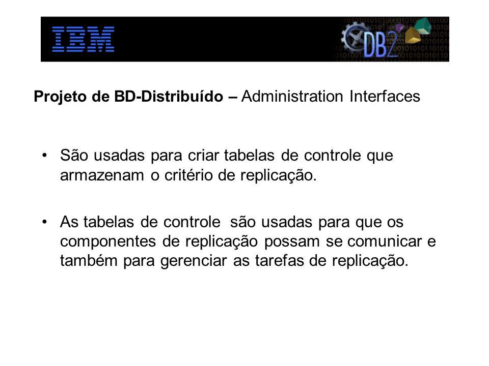 Projeto de BD-Distribuído – Administration Interfaces