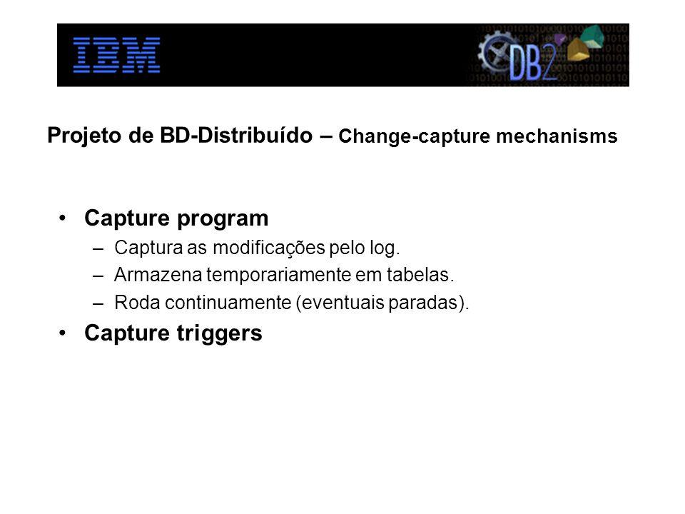 Projeto de BD-Distribuído – Change-capture mechanisms
