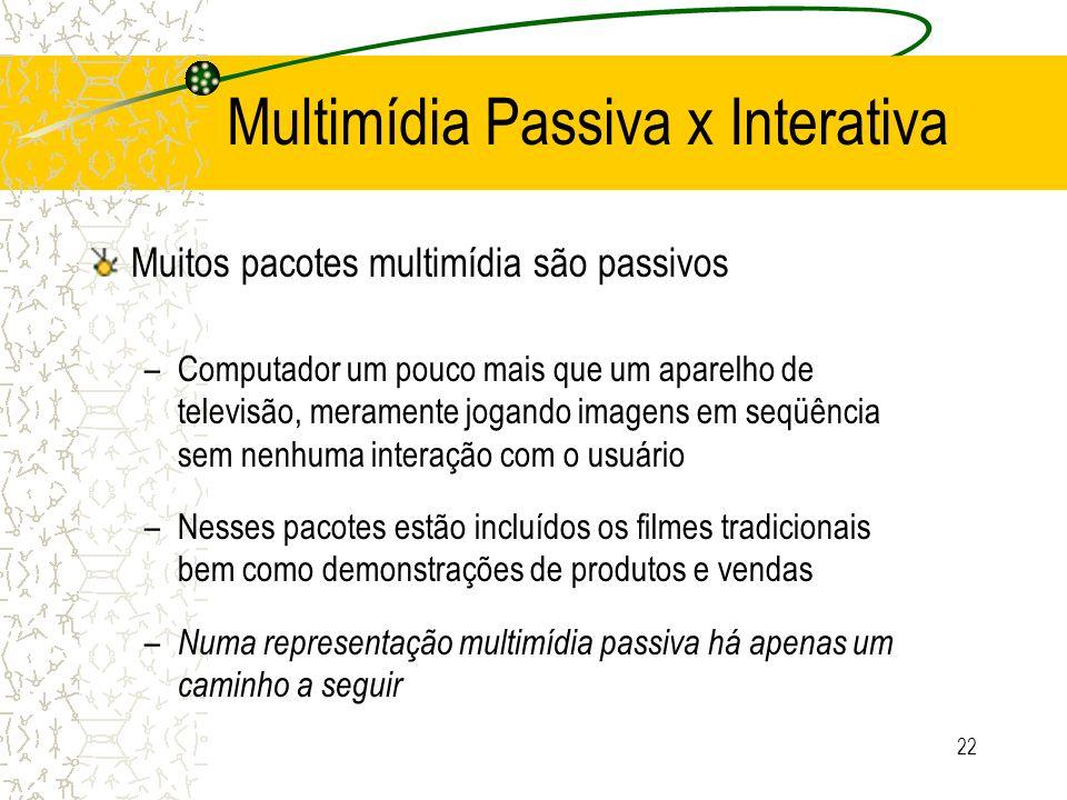 Multimídia Passiva x Interativa