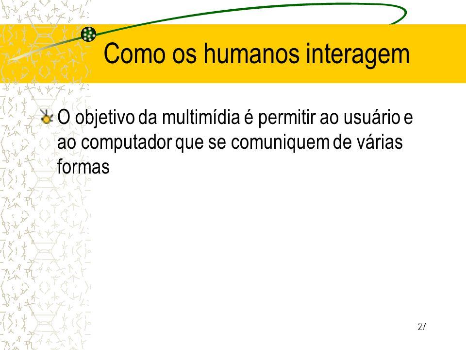 Como os humanos interagem
