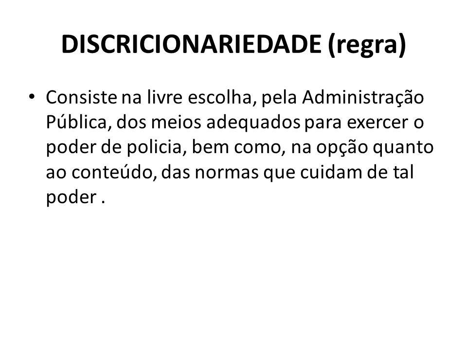DISCRICIONARIEDADE (regra)