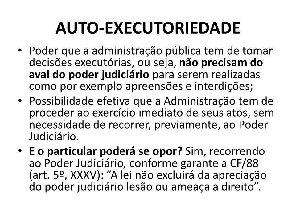 AUTO-EXECUTORIEDADE