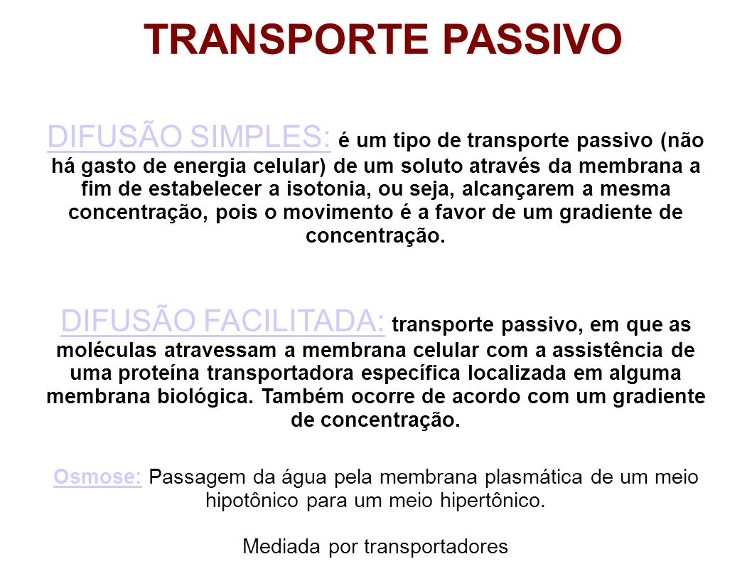 Mediada por transportadores