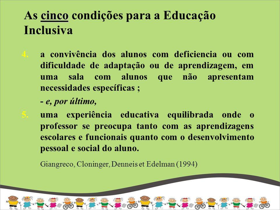 As cinco condições para a Educação Inclusiva