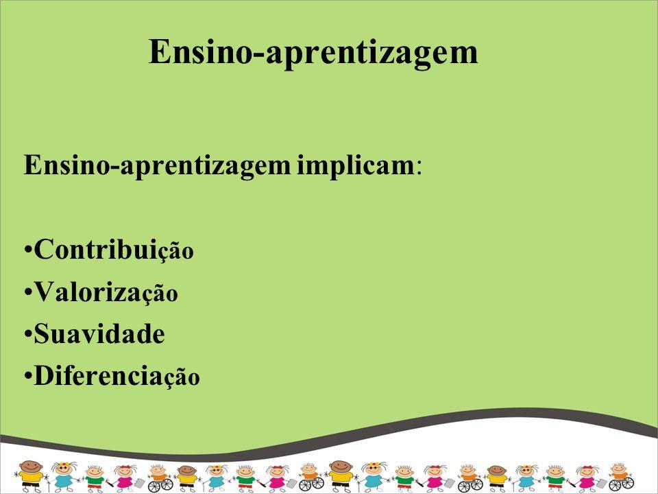 Ensino-aprentizagem Ensino-aprentizagem implicam: Contribuição