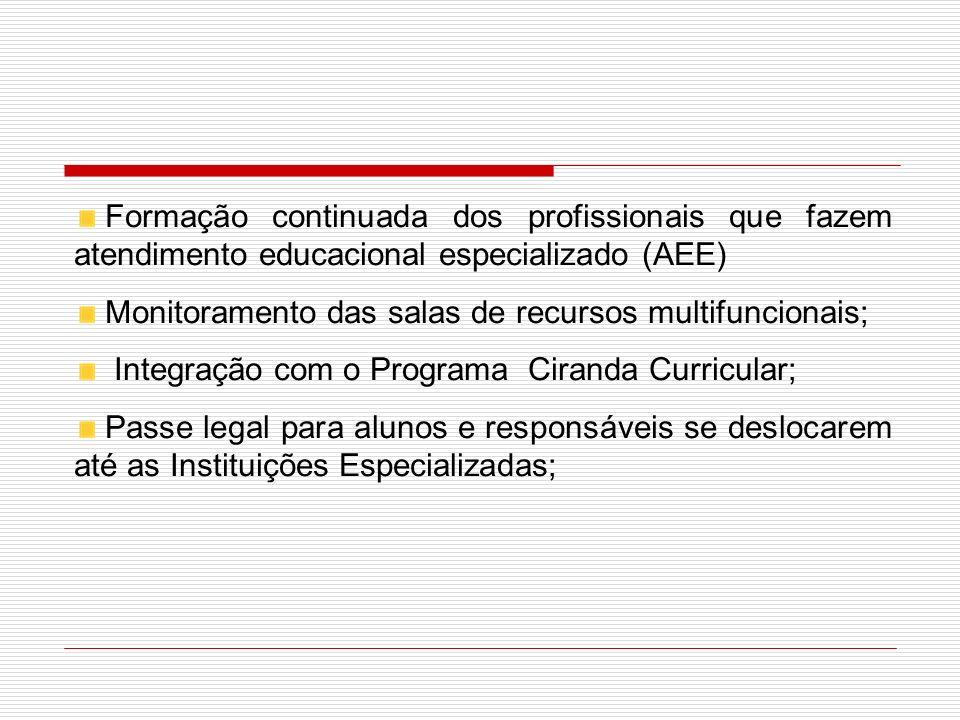 Formação continuada dos profissionais que fazem atendimento educacional especializado (AEE)