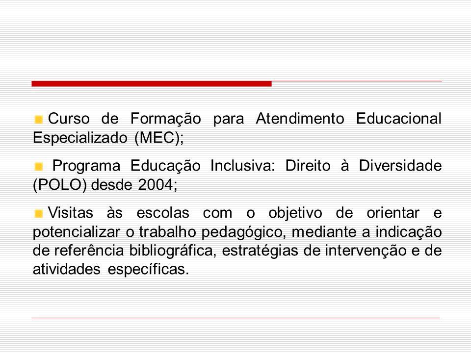 Curso de Formação para Atendimento Educacional Especializado (MEC);