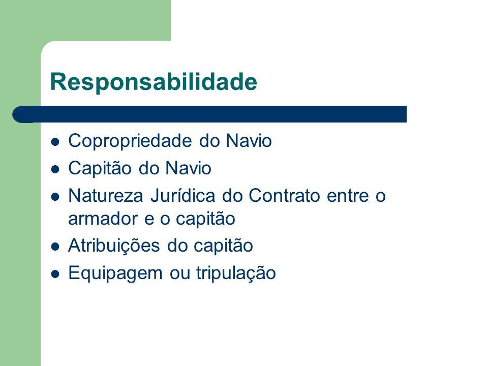 Responsabilidade Copropriedade do Navio Capitão do Navio