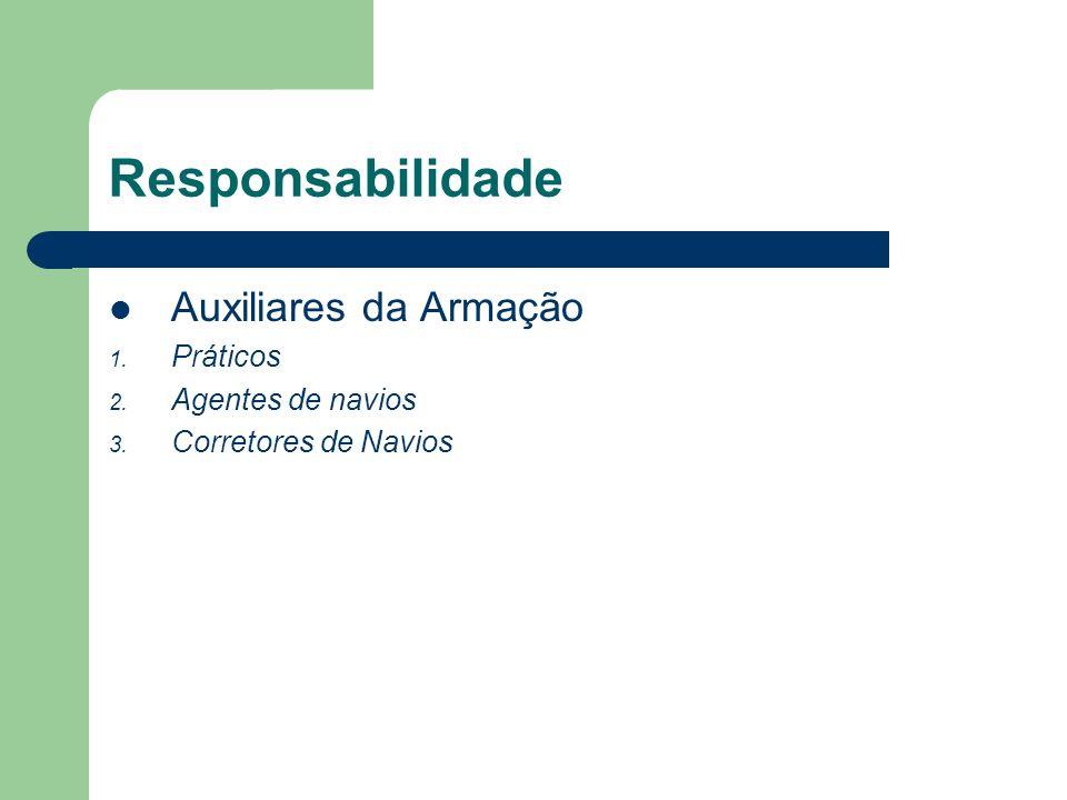 Responsabilidade Auxiliares da Armação Práticos Agentes de navios