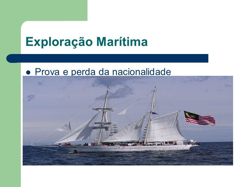 Exploração Marítima Prova e perda da nacionalidade
