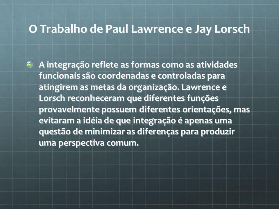 O Trabalho de Paul Lawrence e Jay Lorsch