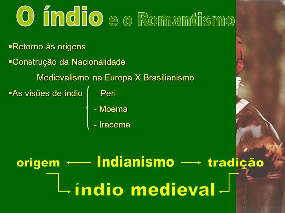 O índio e o Romantismo Indianismo origem tradição índio medieval