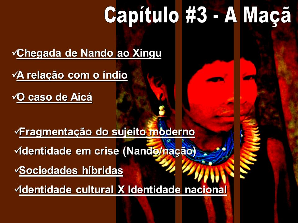 Capítulo #3 - A Maçã Chegada de Nando ao Xingu A relação com o índio
