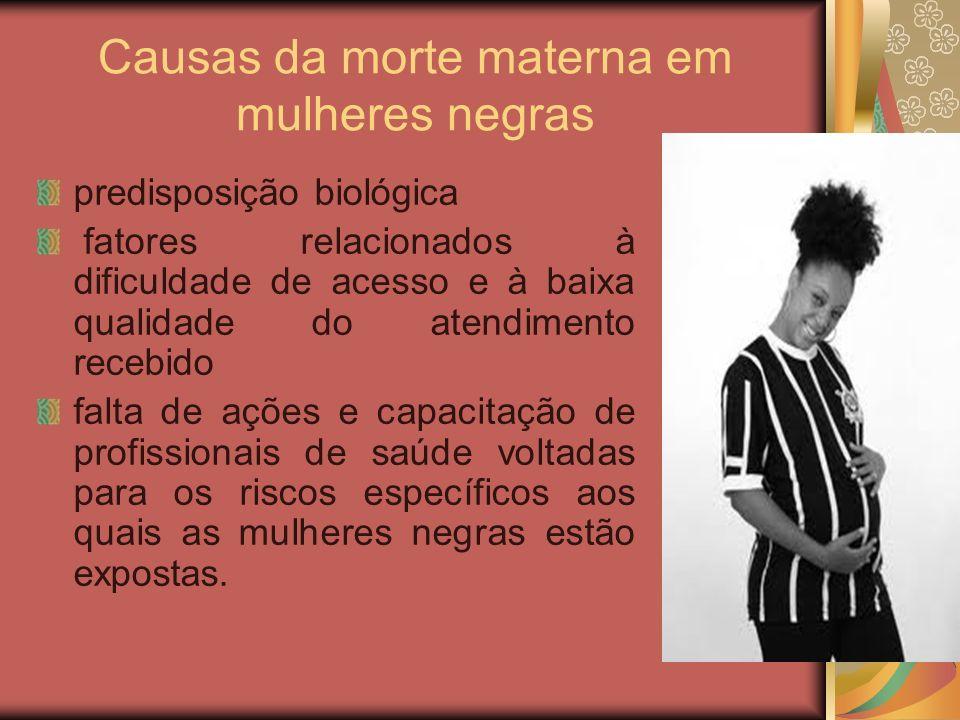 Causas da morte materna em mulheres negras