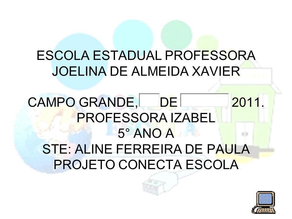 ESCOLA ESTADUAL PROFESSORA JOELINA DE ALMEIDA XAVIER CAMPO GRANDE, DE 2011.