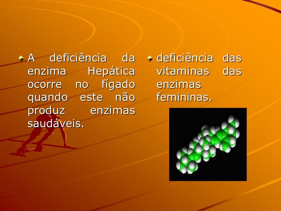 A deficiência da enzima Hepática ocorre no fígado quando este não produz enzimas saudáveis.