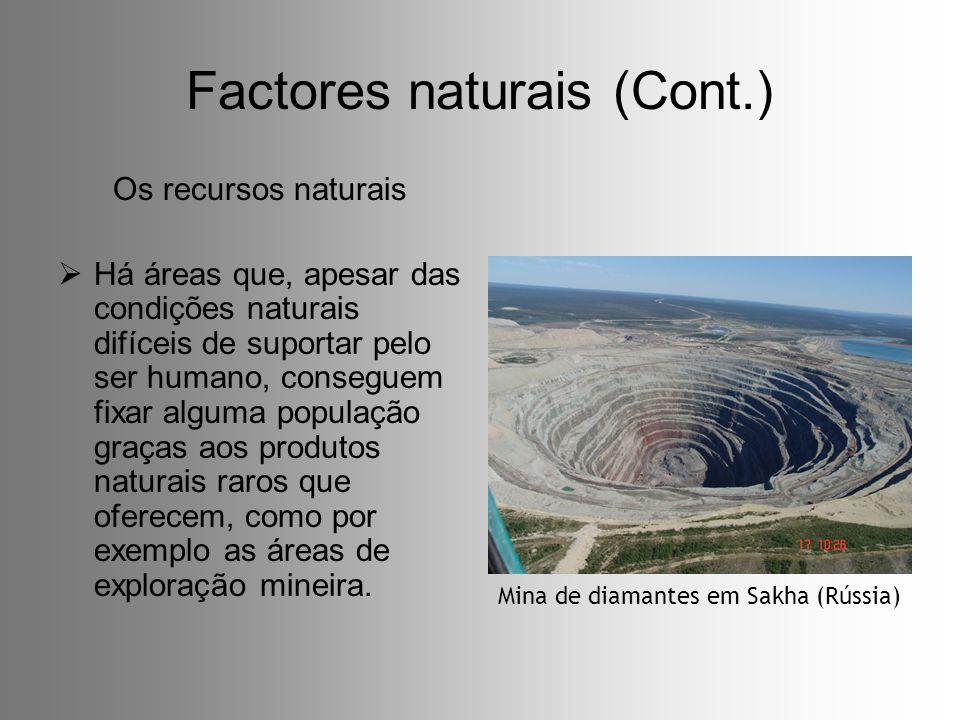 Factores naturais (Cont.)