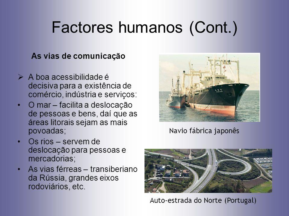 Factores humanos (Cont.)