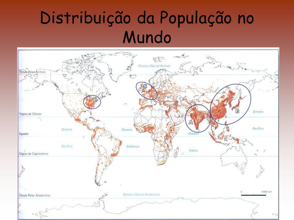 Distribuição da População no Mundo