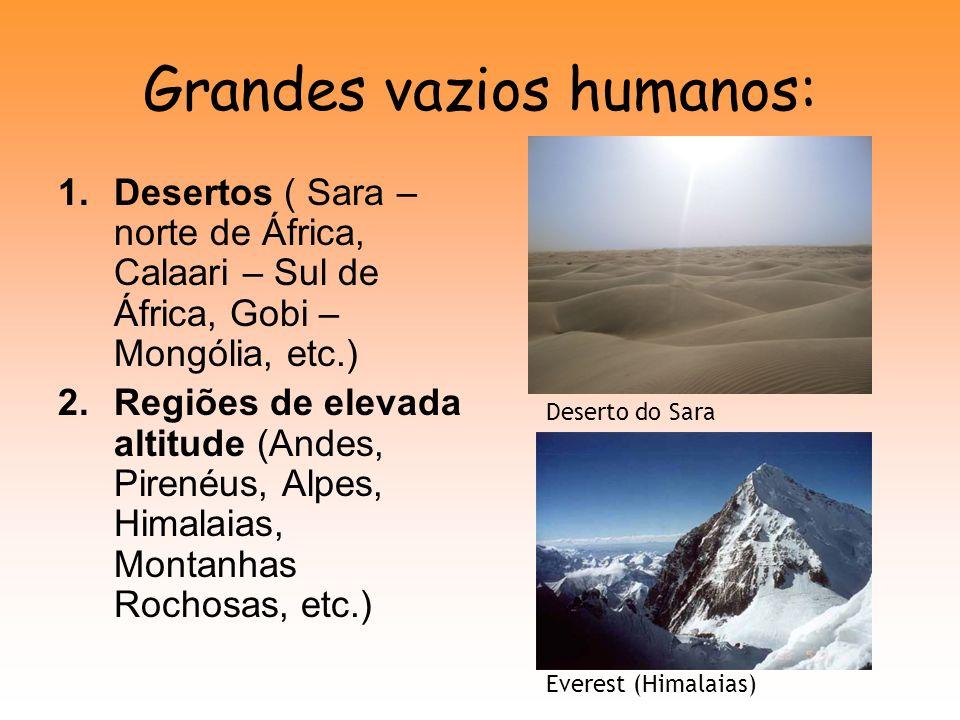 Grandes vazios humanos: