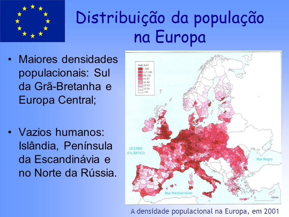 Distribuição da população na Europa