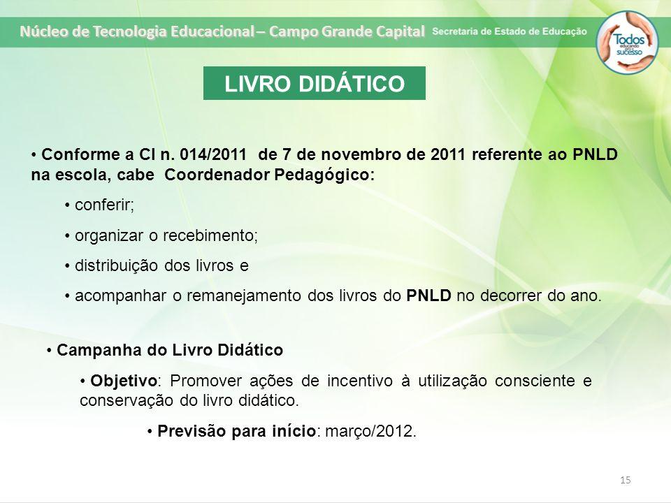 LIVRO DIDÁTICO Núcleo de Tecnologia Educacional – Campo Grande Capital