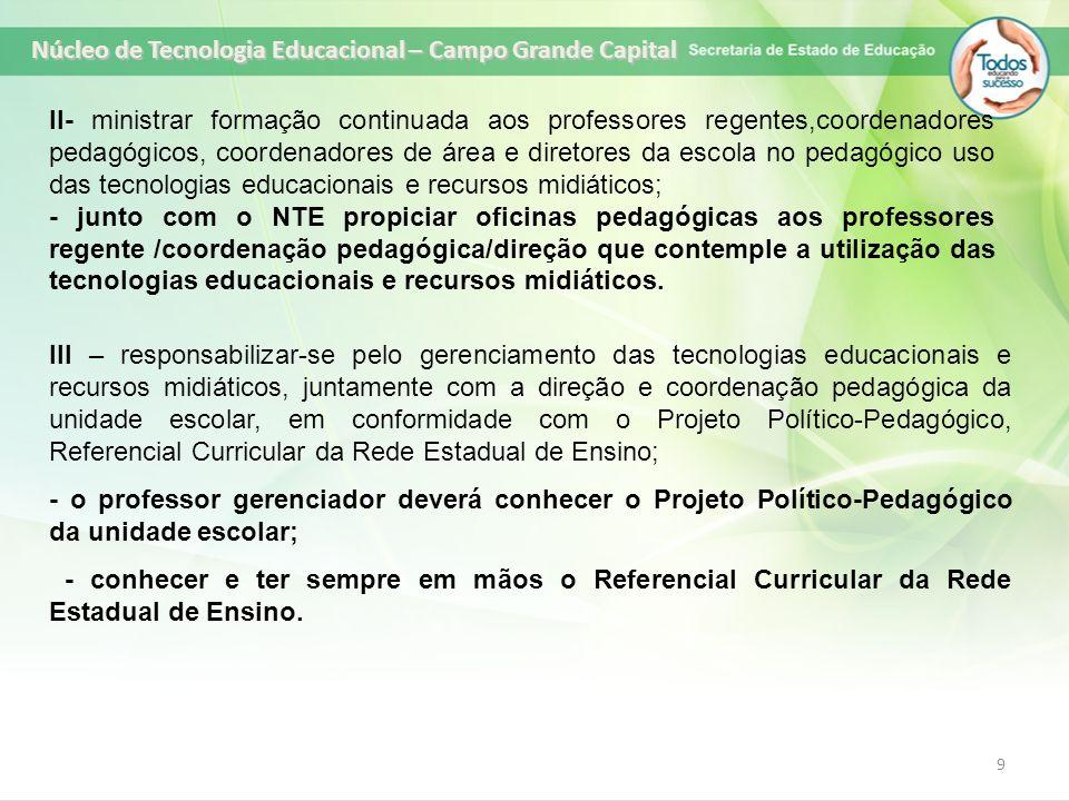 Núcleo de Tecnologia Educacional – Campo Grande Capital
