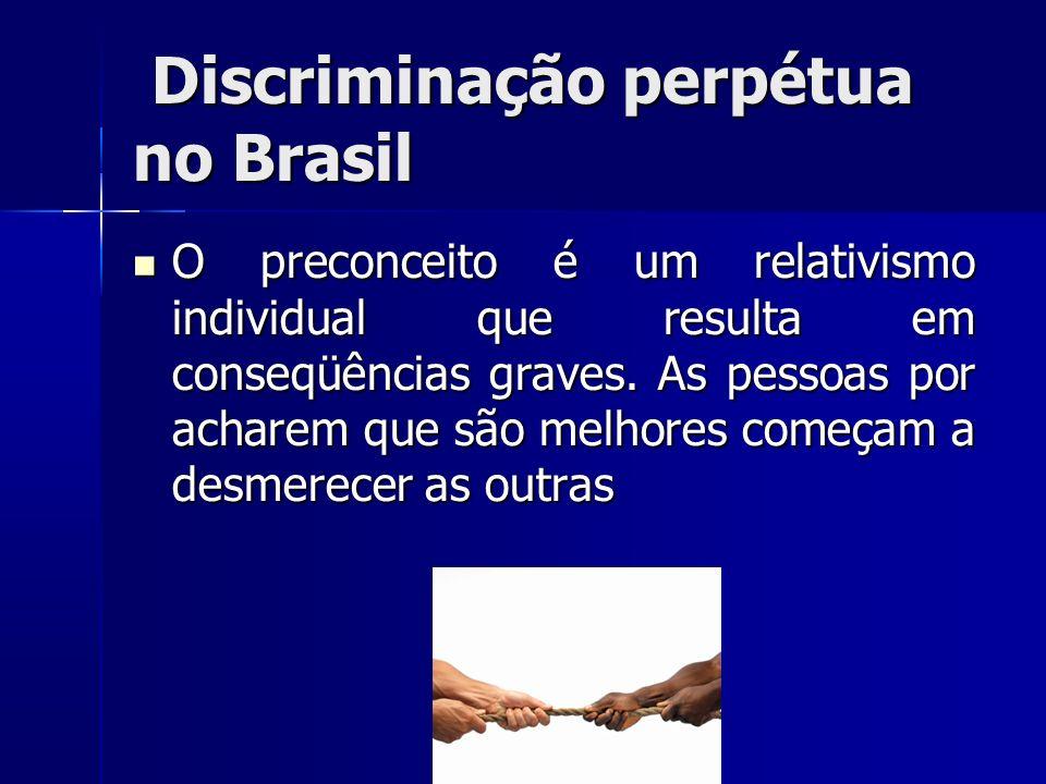 Discriminação perpétua no Brasil